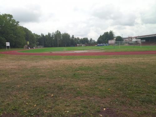 Stávající stav oplocení sportovního stadionu